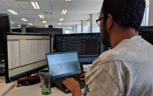 a developer working